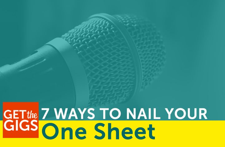 7 Ways To Nail That Speaker One Sheet