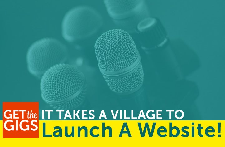 It Takes a Village to Launch a Web Site