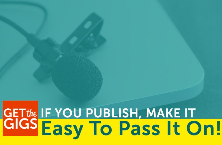 If You Publish, Make It Easy To Pass It On